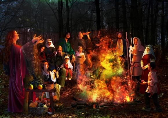 An artist's visualization of Samhain.